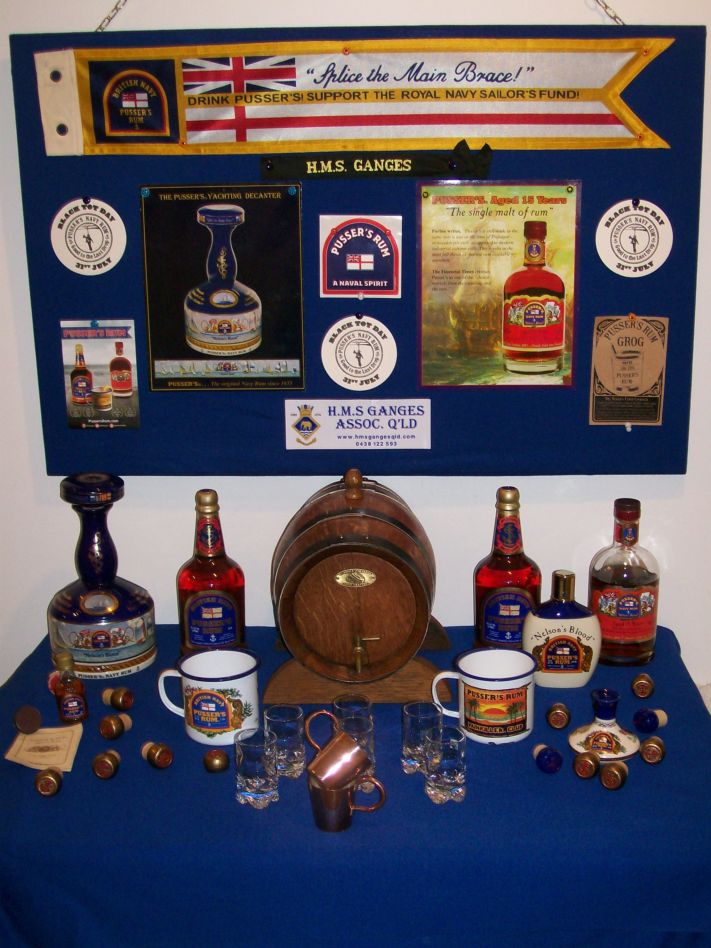 "Thanks to ""PUSSER'S RUM"" for their support"