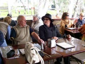Vic Chairman David and his wife Janet on the paddle steamer.